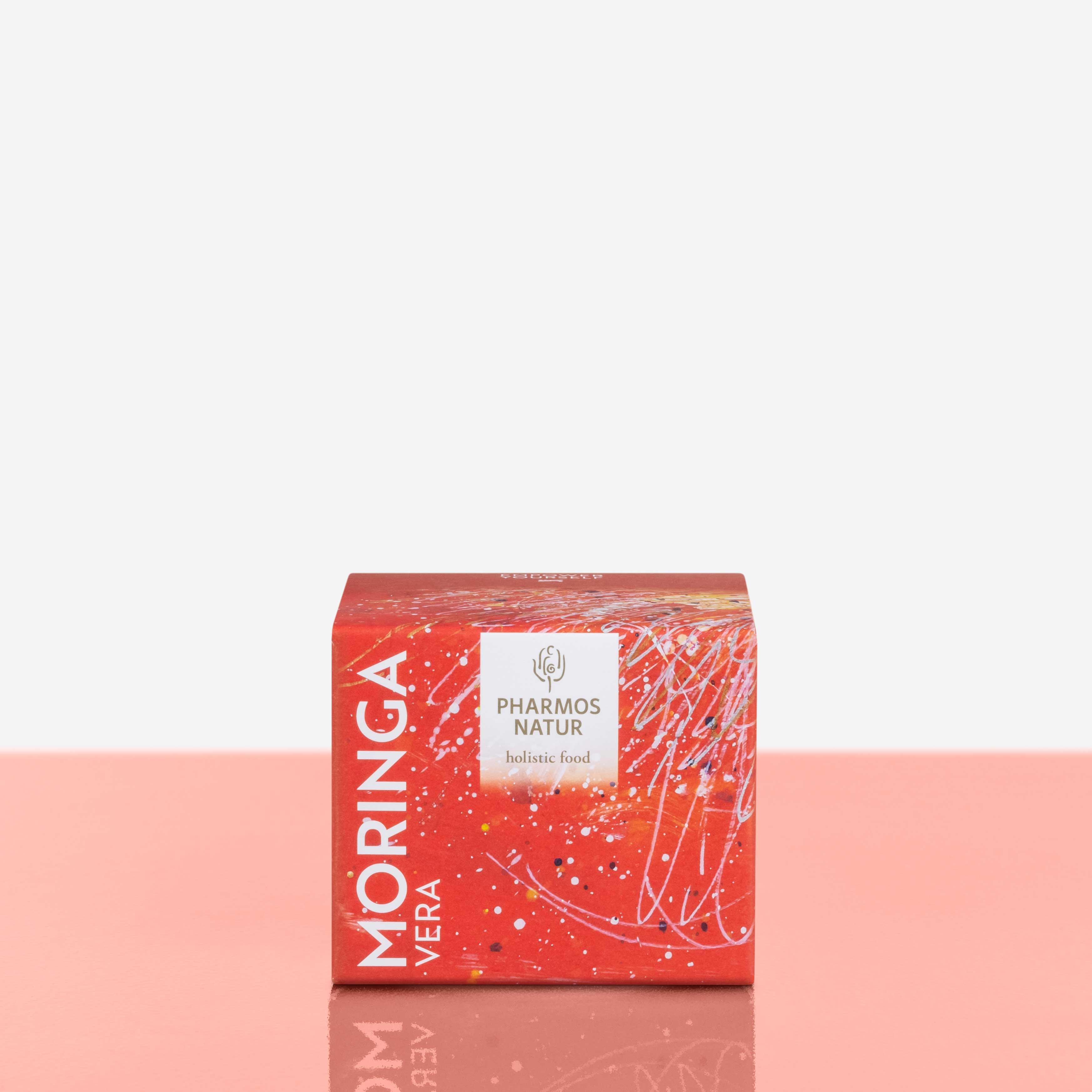 Moringa Vera rote Verpackung Produktbild