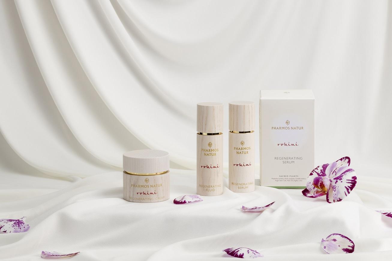 Produktlinie Rohini mit Regenerating Fluid, Regenerating Serum und Regenerating Cream