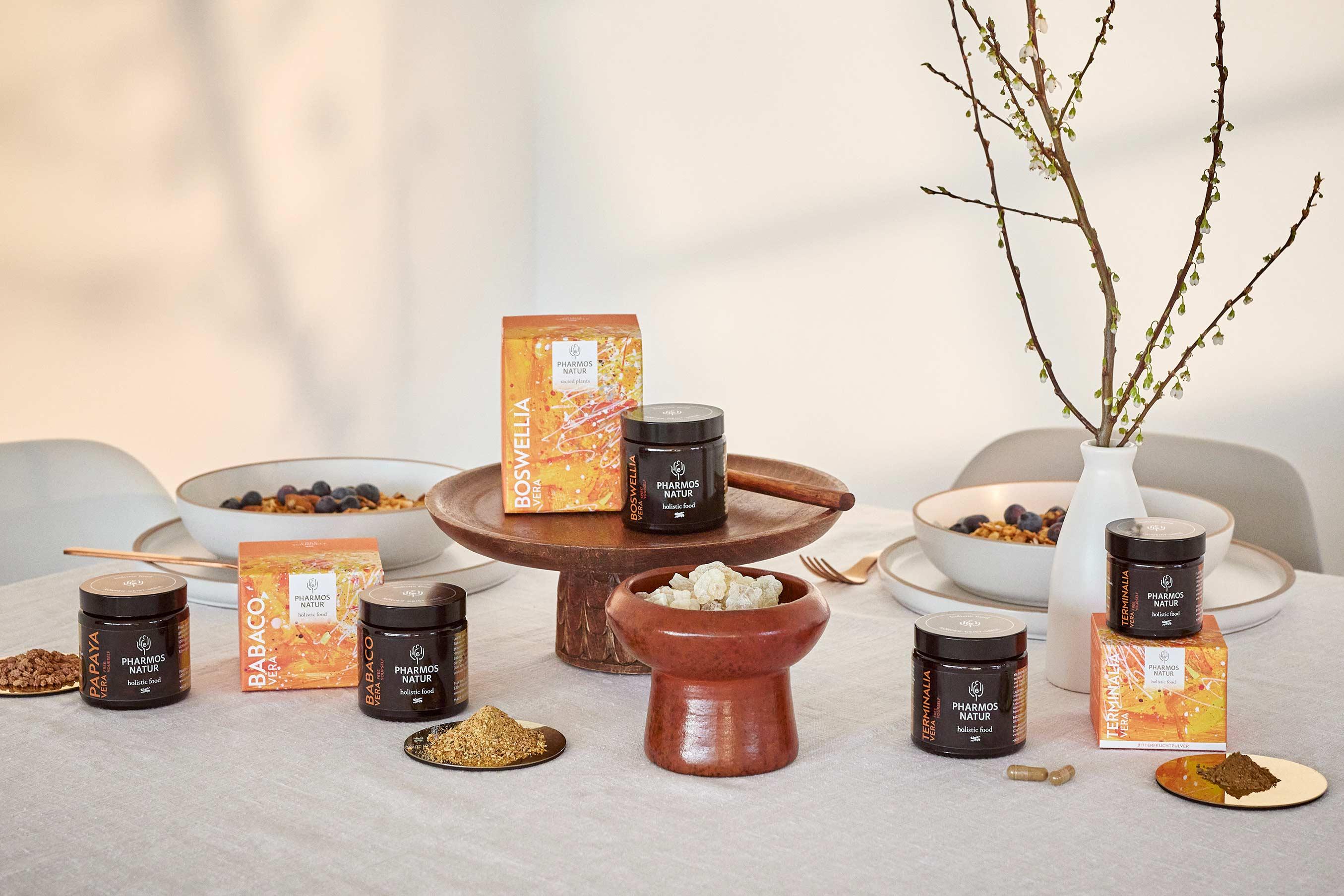 Produktlinie Free Yourself mit PapayaVera, BabacoVera, BoswelliVera und TerminaliaVera
