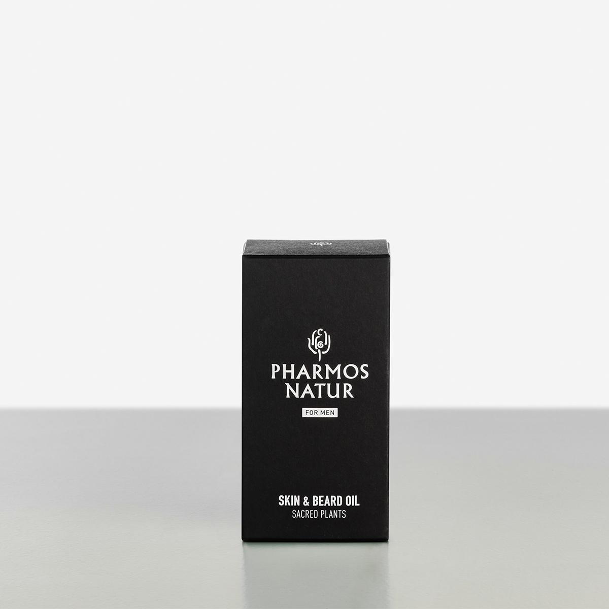 schwarze Verpackung Skin and Beard Oil Produktbild
