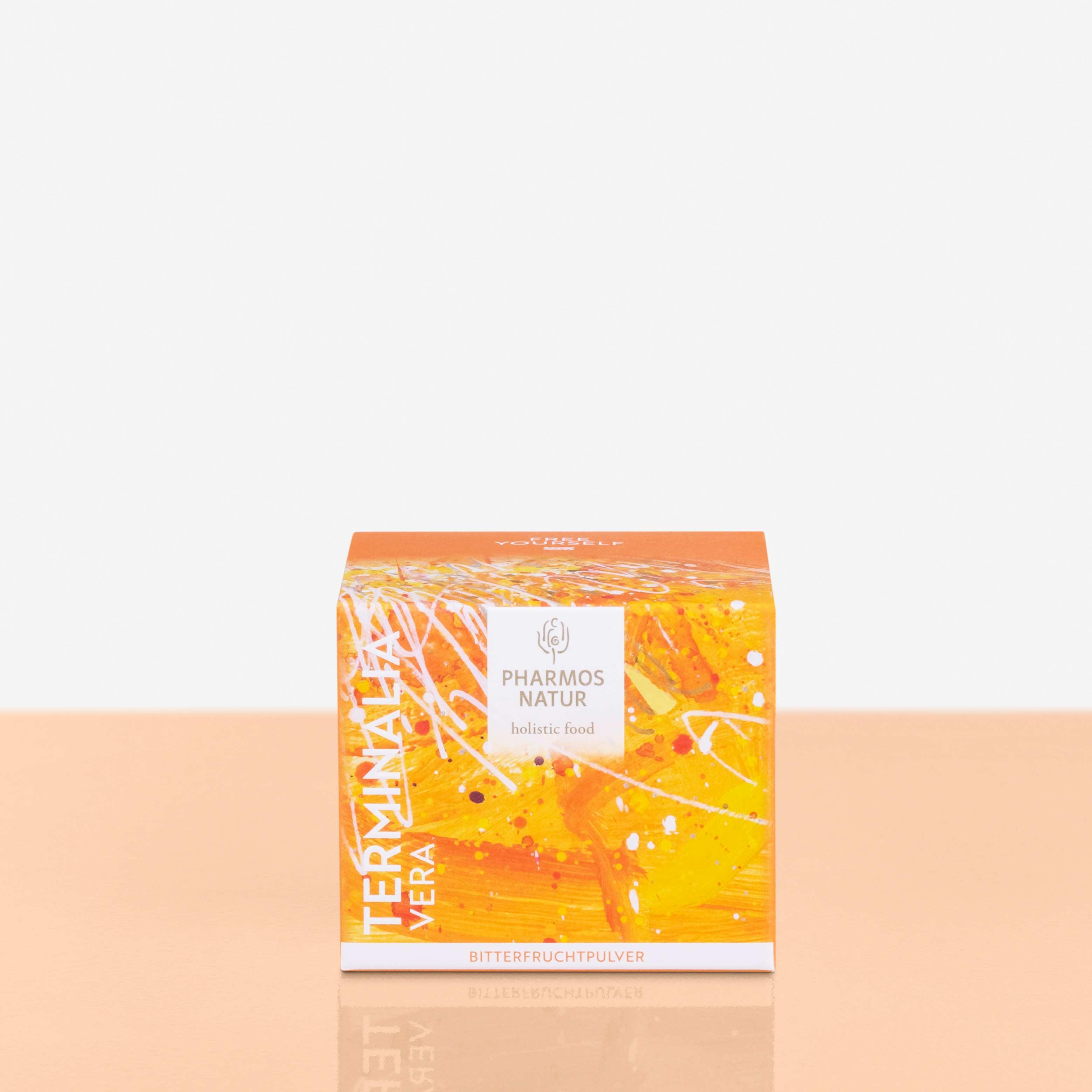 Terminalia Vera gelbe Verpackung Produktbild