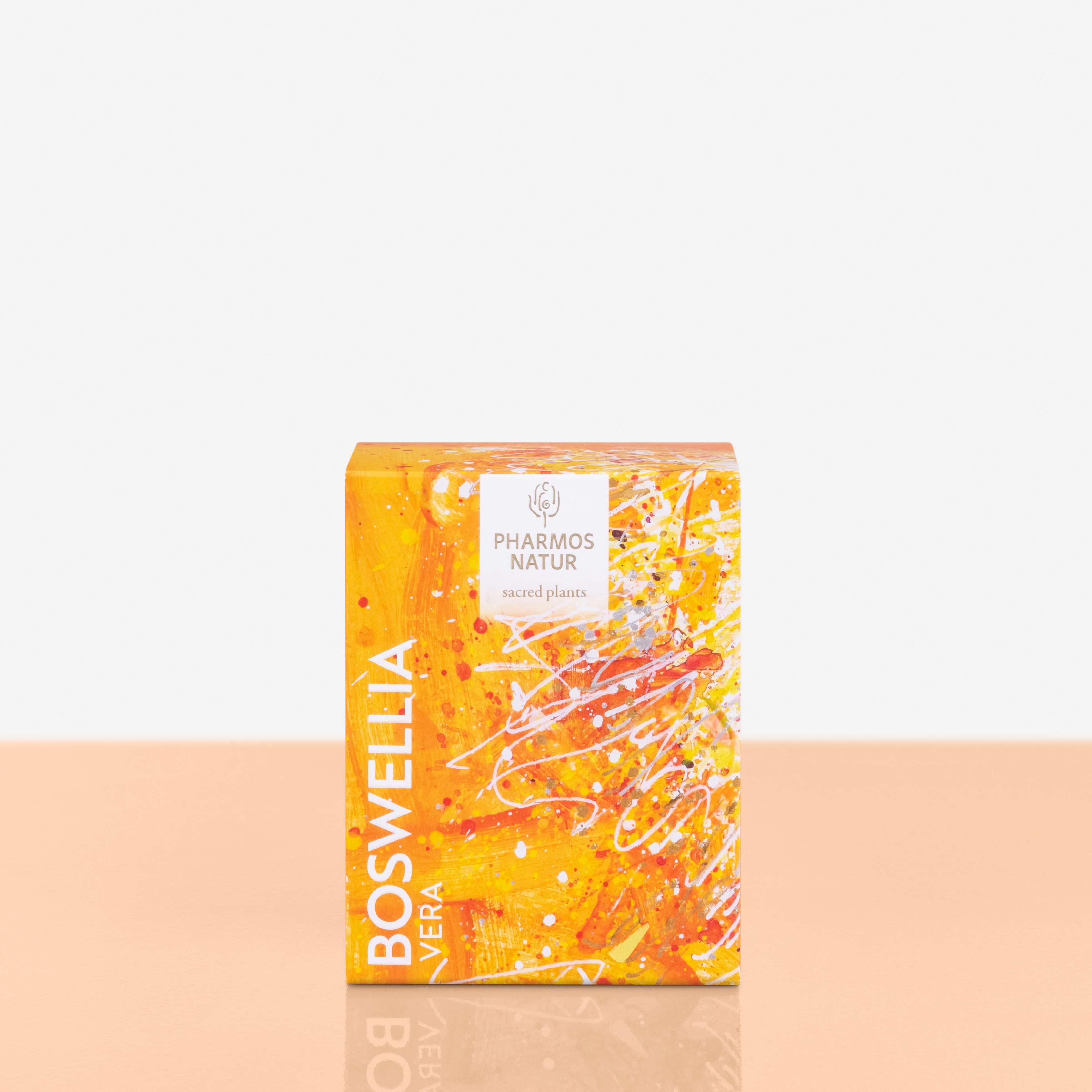 Boswella Vera Weihrauch orangene Verpackung Produktbild