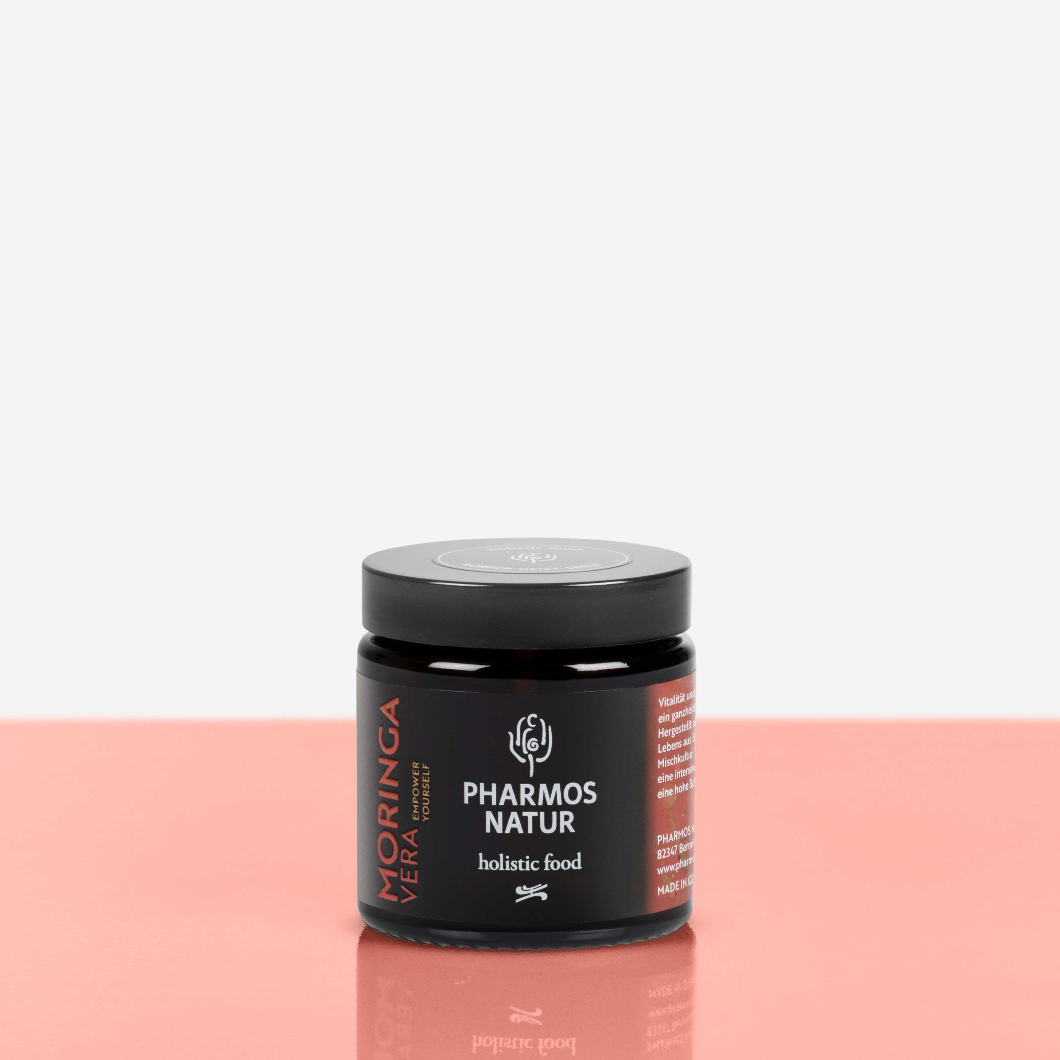 Moringa Vera dunkler Behälter Produktbild