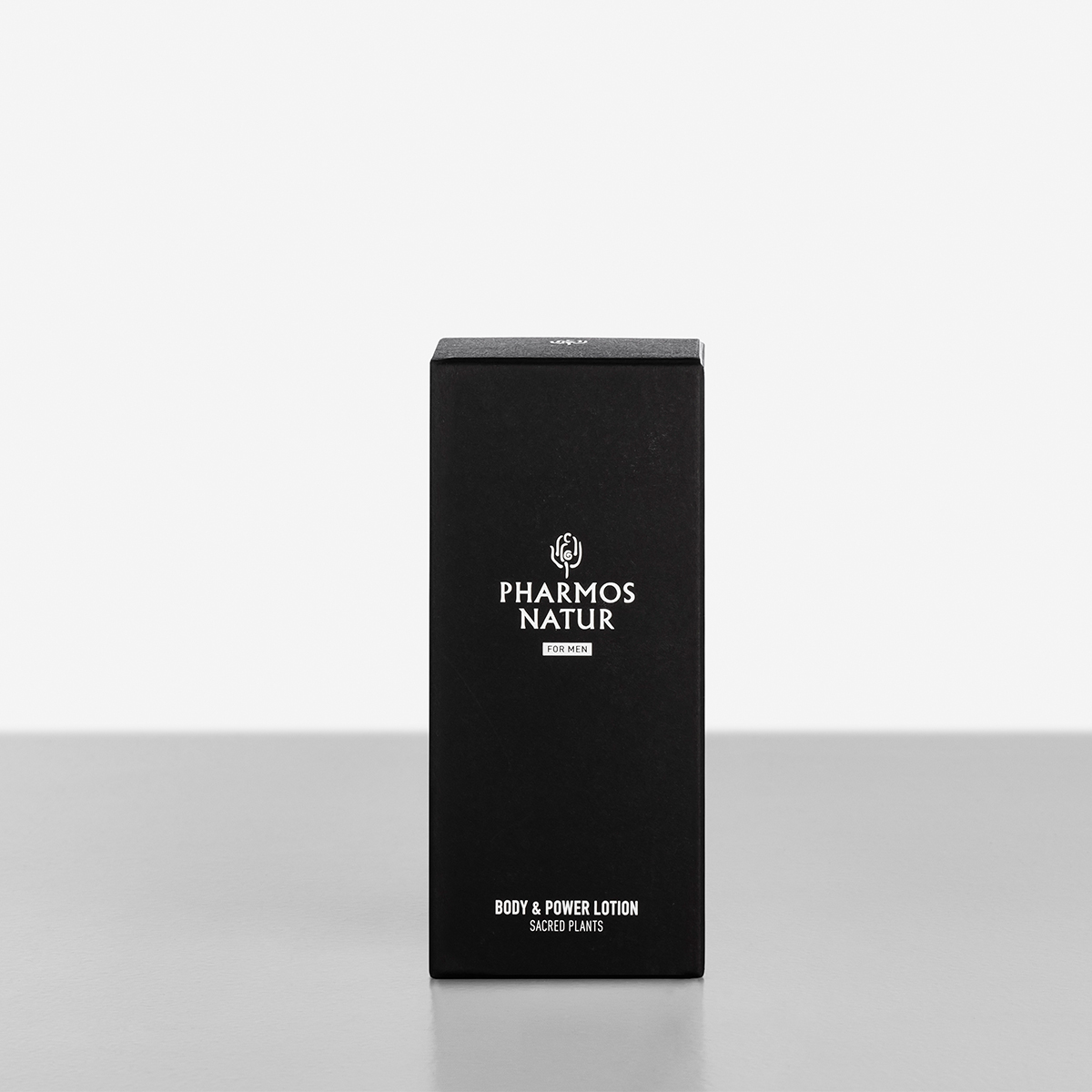 schwarze Verpackung Body and Power Lotion Produktbild
