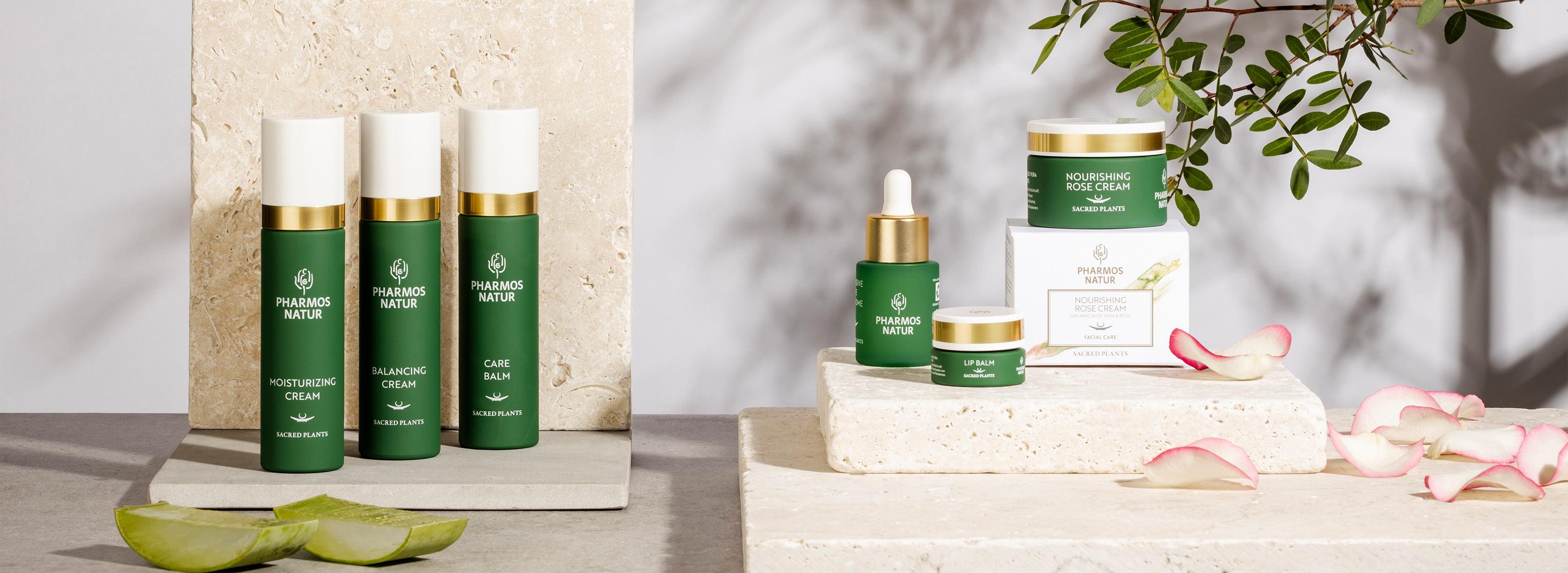 Produktlinie Facial Care  mit Moisturizing Cream, Balancing Cream, Care Balm, Nourishing Rose Cream
