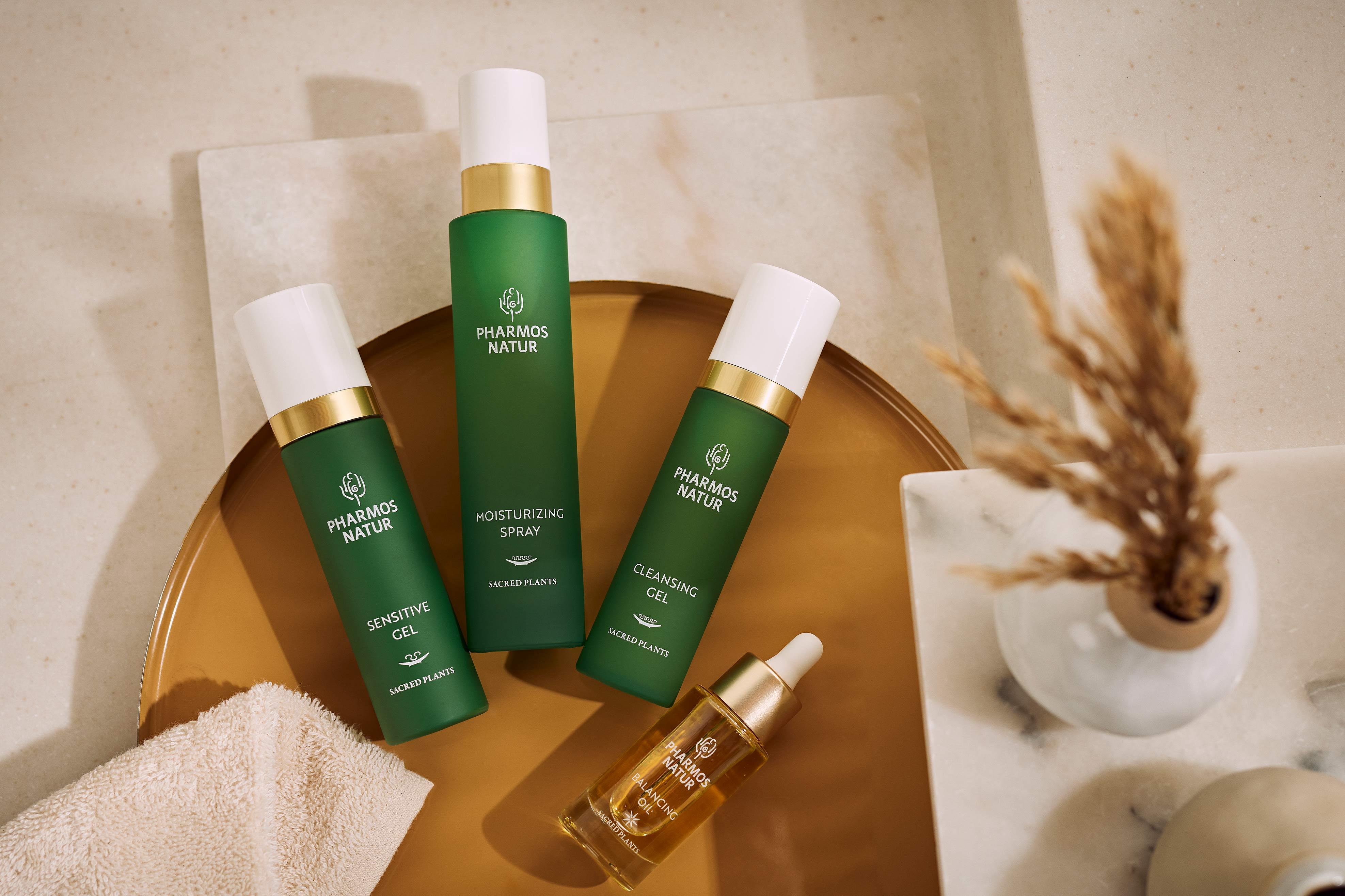 Produkte für ölige Haut mit Sensitive Gel, Moisturizing Spray und Cleansing Gel