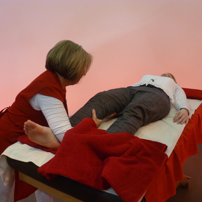 Eine Ganzkörper Behandlung mit der Vegeto Methode