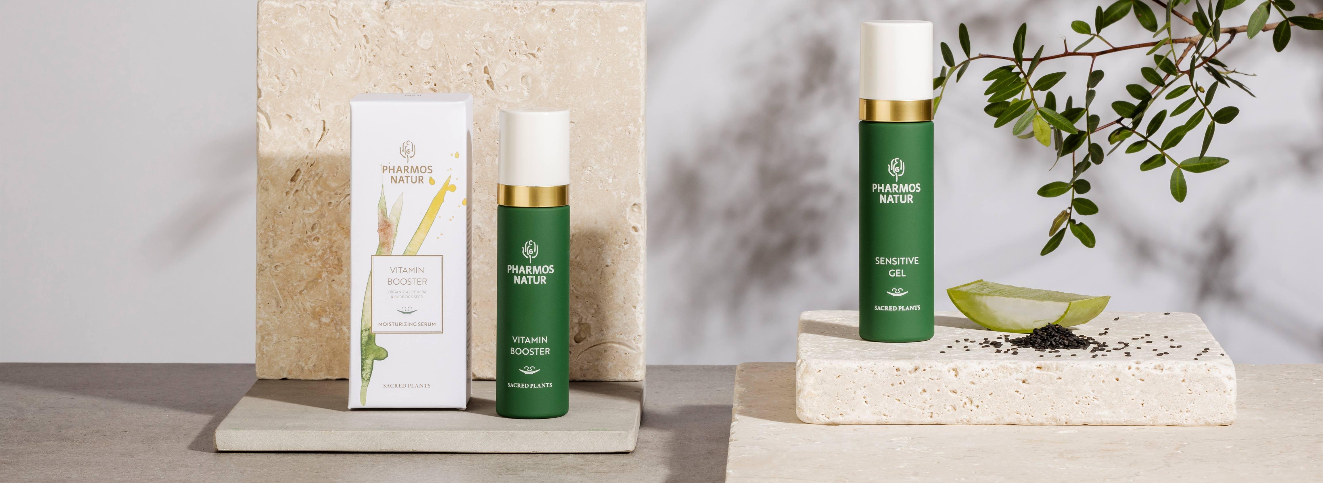 Produktlinie Moisturizing Serum mit Vitamin Booster und Sensitive Gel