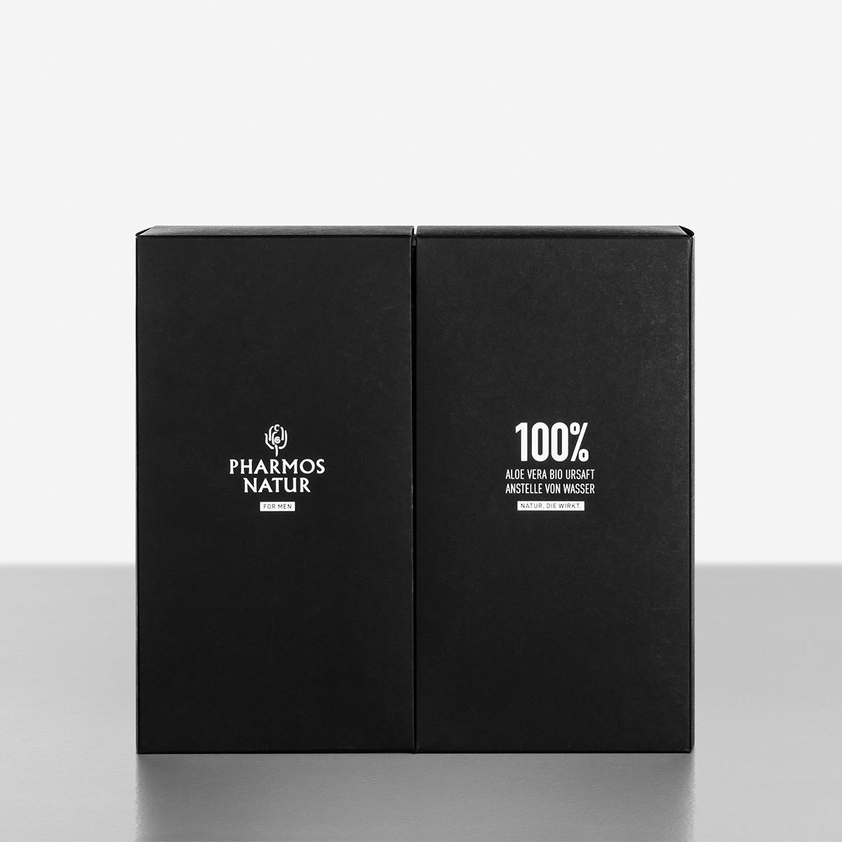 Geschenkset Nature of Men schwarze Verpackung geschlossen