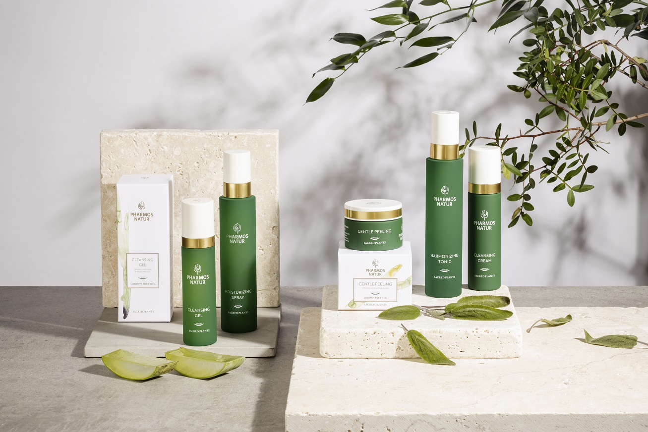 Produktlinie Sensitive Purifying mit Cleansing Gel, Gentle Peeling, Harmonizing Tonic und Cleansing Cream