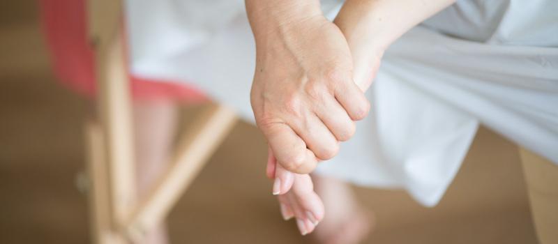 Berührung der Hand