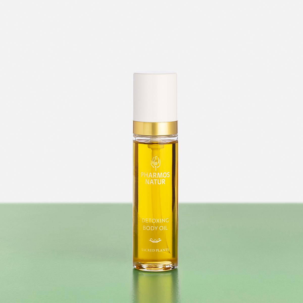 Gelbes Detoxing Body Oil Produktbild